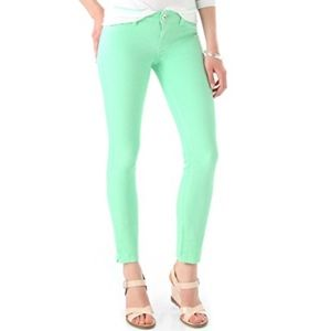 DL1961 Angel Mid Rise Skinny Ankle Key Lime Jeans